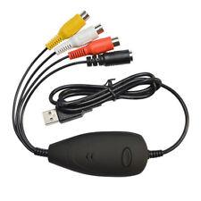 I41 USB 2.0 Audio Video Grabber 3RCA AV S-Video Übertragung über PC Laptop