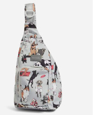 Vera Bradley Reactive Mini Sling Backpack Best in Show Dogs out Online