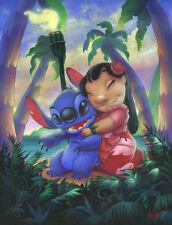Art Print on Canvas Anime Painting Lilo and Stitch Alohana Home Decor Unframed