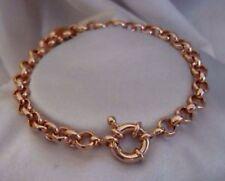 "9K 9ct Rose ""Gold Filled"" Men Ladies Belcher Chain Bangle Bracelet. 8.7"" Gift"""