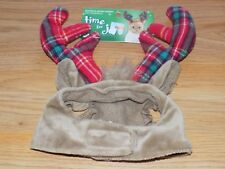 One Size Time For Joy Purfect Santa Helper Holiday Cat Reindeer Antler Headpiece
