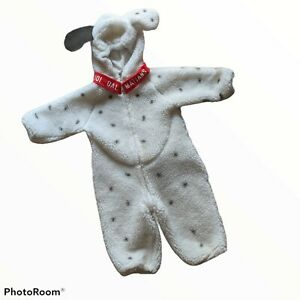 Vintage Disney Store 101 Dalmatians Dog Full Body Kids Toddler Costume 12-24m