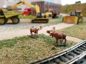 N Scale Bull Moose 1:160 scale Model Train Railroad painted