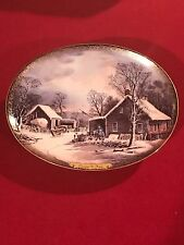 Bradford Exchange Currier & Ives Christmas Collection 4th Issue; No Box /Coa