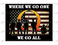 QAnon  sticker military flag American car window bumper where we go one go all