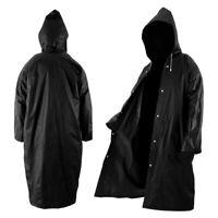 Poncho imperméable long manteau pluie tissu noir d'EVA tissu noir chapeau PS G