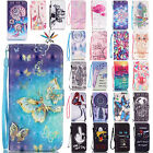 Patterned Magnetic Flip Leather Wallet Card Case Stand Cover For Samsung Phones