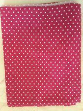 Fabric Piece Raspberry With White Polka Dots Cotton Poplin? 114cm X 226cm