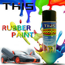MATT BLACK RUBBER VINYL SPRAY PAINT FOR ALLOYS CARS PLASTICS INTERIOR METAL