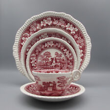 Spode England PINK TOWER 5pc Place Setting (Service for One)