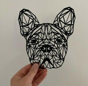 Geometric Frenchie French Bulldog Dog Animal Wall Art Decor Hanging Decoration