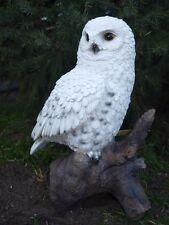 Schnee Eule lebensecht   Uhu Kauz Vogel Garten Figur Tier Skulptur Deko