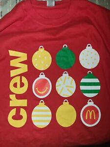 McDonalds Employee Crew Christmas Holiday Decoration Balls Men's 2X. New