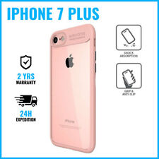 Armor Cover Cas Coque Etui Silicone Hoesje Case Black For iPhone 7 Plus Pink