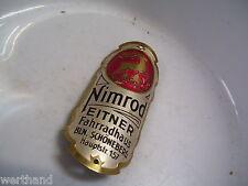 Oldtimer Fahrrad  Steuerkopfschild Nimrod Eitner Fahrradhaus BLN. Schönberg 157