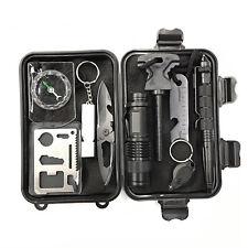 9 in 1 SOS Kit Outdoor Emergency Equipment Box Camping Survival Gear Kit UK