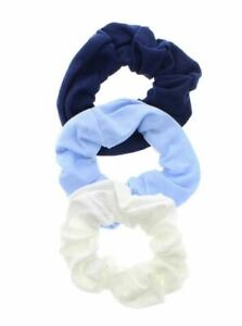 3 Pack Set Navy Blue Hair Band Elastic Hair Bands Scrunchie Ponytail Accessory