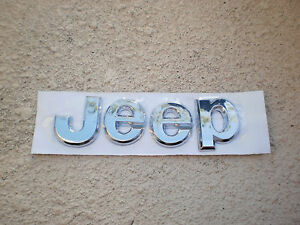 "CHROME JEEP LIBERTY GRAND CHEROKEE "" JEEP "" TAILGATE LETTERS EMBLEM BADGE NEW"
