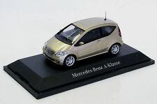 wonderful PR-modelcar MERCEDES BENZ A-CLASS 2-door 2004 - beige metallic - 1/43