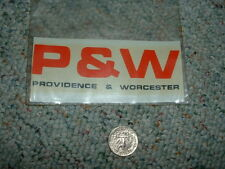Accu-cals Rail-Cals decals S O Gauge large scale Providence Worcester E61