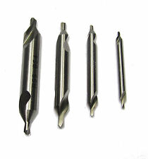 RDGTOOLS SET OF 4 CENTRE DRILLS 1MM, 1.6MM, 2MM, 2.5MM METAL LATHE WORKING TOOLS