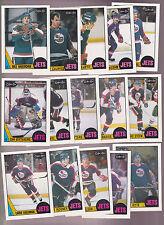 1987 OPC Team SET lot of 15 Winnipeg JETS NM/MT o-pee-chee HAWERCHUK ELLETT
