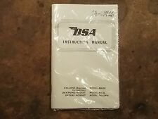 BSA Manual, Cyclone, Lightning Rocket, Spitfire Hornet