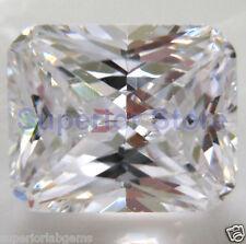 6.0 x 8.0 mm 1.50 ct OCTAGON Cut Sim Diamond, Lab Diamond WITH LIFETIME WARRANTY