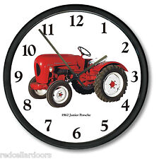 """New PORSCHE JR Tractor Wall Clock 10"""" Round 1962 Vintage Junior Farm Vehicle"""