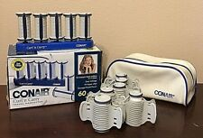 Conair Curl 'n Carry Hot Rollers TS10 Travel Case Pageant 11 Rollers Box TESTED