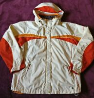 Columbia Women's Vertex Retro 80's Vintage Ski Jacket Size Large Ivory & Orange
