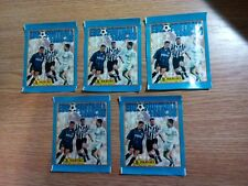 5 packs of 5 stickers Panini Euro Football 1998-1999