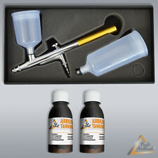 """AIRBRUSHPISTOLE AIRBRUSH SET AIRBRUSH SELBSTBRÃ""""UNER AIRBRUSH TANNING LOTION DHA"""