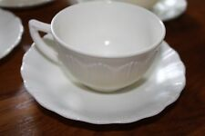VINTAGE MACBETH EVANS CREMAX BORDETTE  CREAM/IVORY CUPS and SAUCERS,4 sets