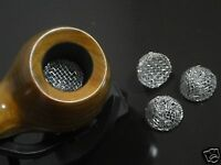 10pc 15mm Tobacco Pipe Silver Screen Ball Filter Metal Promotion Combustion #109