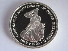 1993 Belize Elizabeth II Coronation Anniv 2 Dollars Silver Proof Coin, COA