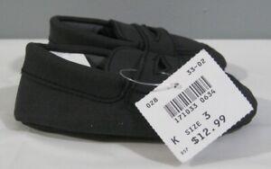 New Teeny Toes 171033 Winston Design Kids Toddler Size 3 Black Shoes Unisex NIB