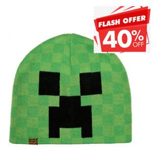 Minecraft Hat Knit Beanie Unisex Cap New (Adult Size)
