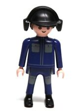 Playmobil Figure Helicopter Pilot w/ Hat Headset Earphones Jumpsuit