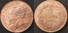 R4! VITTORIO EMANUELE II 2 Centesimi 1861 Napoli segno di zecca Grande, SPL
