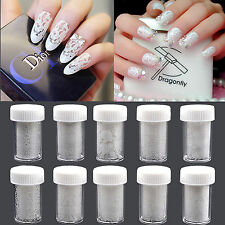10 Sheets/Set Nail Art Lace Stickers Decals Transfer White Lace Design Nail Art