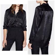 EQUIPMENT Tabitha Simmons Signature Star Shirt True Black (XS) NEW $325
