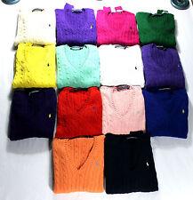 Ralph Lauren Women's Cable Knit Sweater, Jumpers Knitwear Polo Sizes XS-XL, BNWT