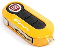 Fiat 500 Single Mustard Yellow Remote Key Cover Case New Genuine 50926870Y