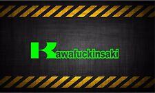 Kawafckinsaki motorcycle 7'' vinyl car sticker decal DIRTBIKE mud