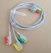 GE-Critikon/Datex Ohmeda/Hellige compatible con 3 plomo electrocardiograma leadwire, IEC, pellizcar