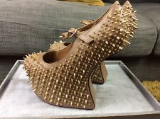 Jeffery Campbell size Uk 3.5 Eu 36 Prickly Spiked Heel Less Shoes Unworn S1
