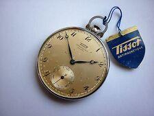 Sottili indossate NOS-TISSOT-Orologio da tasca in acciaio inox 40er anni