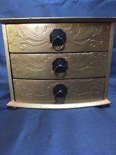 Old Minature Chest of Drawers , revamped in gold gilding
