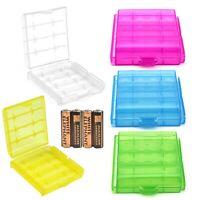 Plastic AA AAA Battery Storage Box Bag Holder Hard Case Battery Holder